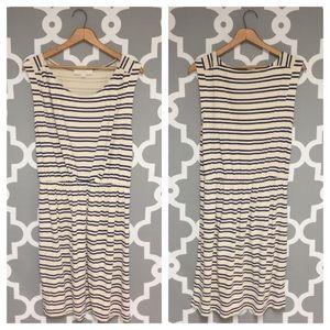 Loft Sleeveless Stripe Dress : 10:M